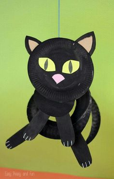 Paper Plate Black Cat - Paper Plate Crafts for Kids - Easy Peasy and Fun & Paper Plate Ghost - Paper Plate Crafts for Kids | Pinterest | Paper ...