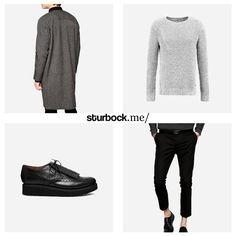 Derzeit ein wirklich angebrachter Look: Langer Mantel, Strickpullover, Budapester und kurz geschnittene Hose. Hier entdecken und shoppen: http://sturbock.me/weT