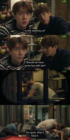 Exo next door episode 2. I ship #Baekhun #hunbaek