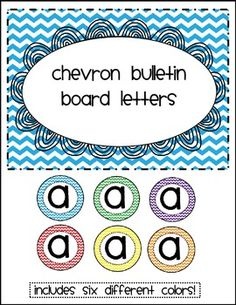 Rainbow Chevron Bulletin Board Letters And Numbers Printable