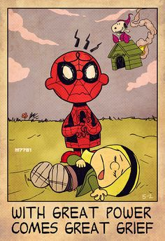 "Charlie Brown Is Spider-Man in ""With Great Power Comes Great Grief"" Art — GeekTyrant"