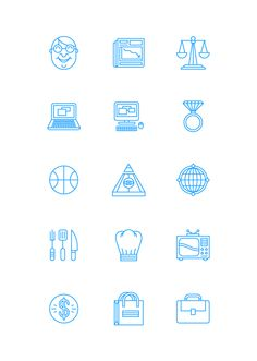 Icon work for Esquire US, for an article about The World of Men. Some of these didnt make the cut.