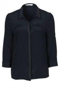 See u Soon Bluzka czarny Blouse, Long Sleeve, Sleeves, Tops, Women, Fashion, Moda, Long Dress Patterns, Fashion Styles