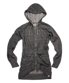 Loving this Heather Dark Gray Comeback Headphone Hoodie - Women on #zulily! #zulilyfinds