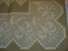 Crochet filet edge