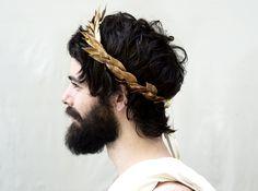 Gold Leaf Headband. Gold Leaf Crown Greek by BloomDesignStudio