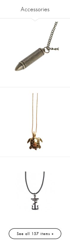 """""""Accessories"""" by pierce-the-muflafla ❤ liked on Polyvore featuring jewelry, necklaces, accessories, metal necklace, metal jewelry, bullet necklace, metal pendant, bullet jewelry, no color and 14 karat gold pendant"""