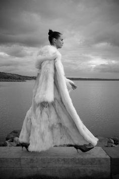 white fox coat from Bunt