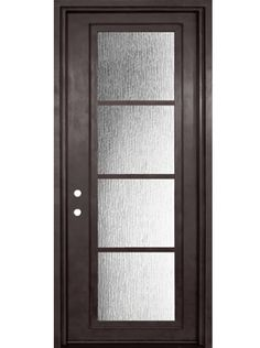 Strong and durable steel doors with a modernist design-- combining form and fuction. This 4 Lite NP series design is one of GlassCraft's latest.