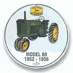 John Deere Tractor Model 60 Tin Sign