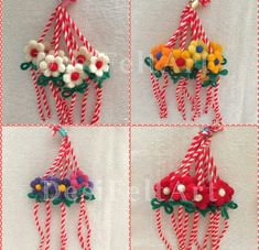 Easy Crafts To Make, Diy And Crafts, How To Make, Japanese Ornaments, Baba Marta, Food Humor, Funny Food, Yarn Dolls, Paper Flowers