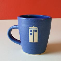 Tardis Mug  Doctor Who  Made to Order by Frostbeard on Etsy, $33.00