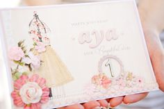 Pink and Gold Birthday Party. Elegant and girly!