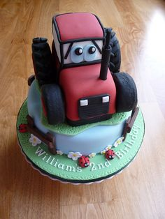 Red Tractor Cake, via Flickr.