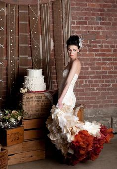 """""""Wearable Art"""" Wedding Dresses From Wai-Ching: Made In Seattle For Offbeat Brides Worldwide - Weddbook"""