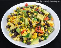Grilled Corn, Poblano, & Black Bean Salad