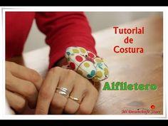 """Con este tutorial aprenderás a confeccionar una pulsera o brazalete de tela, que uniendo con la flor del tutorial anterior se convertirá en un práctico """"Alfi..."""