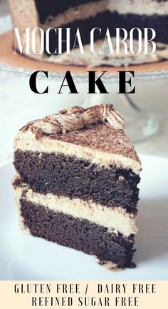 Mocha Carob Cake - Gluten Free Dairy Free Sugar Free - tender fluffy chocolaty sweet and moist created for people with food sensitivities to satisfy their sweet cravings. Sugar Free Desserts, Sugar Free Recipes, Gluten Free Desserts, Keto Desserts, Dessert Recipes, Carob Cake Recipe, Carob Recipes, Gf Recipes, Delicious Recipes