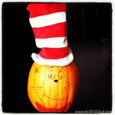 Book Character Jack-o-lanterns #CatintheHat #DrSeuss & more #pumpkins