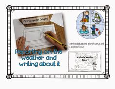 A book for recording the weather is so much fun if you keep it simple. Kindergartencrayons