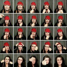 La make-up artist Lucia Pittalis se transforme en personnages célèbres : Jack Sparrow