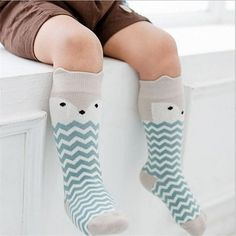315a78c354c BalleenShiny Baby Socks Newborn Kids Girl Boy Animal Pattern Anti-slip Knee  High Sock Fox Cat Cotton Cute Cartoon Infant Toddler
