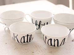 personalized tea cups - Google Search