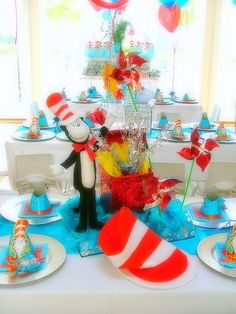 Cat in the hat party ideas
