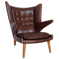 Papa Bear Chair | From a unique collection of antique and modern armchairs at https://www.1stdibs.com/furniture/seating/armchairs/