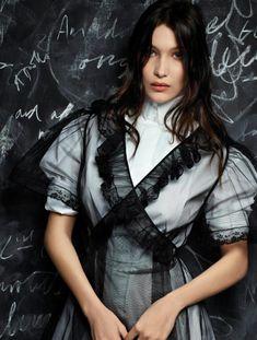 Gigi Hadid, Kendall Jenner, Jerry Hall, Joan Smalls, Bella Hadid by Karl Lagerfeld for V Magazine Spring 2016