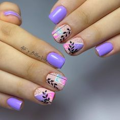 Nail Art Designs Videos, Nail Designs, Love Nails, How To Do Nails, Organic Nails, Nail Arts, Nail Colors, Hair Beauty, Finger Nails