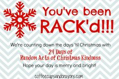 Random Acts of Kindness printable and learning activity #christmas #kindness