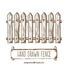 Hand drawn fence