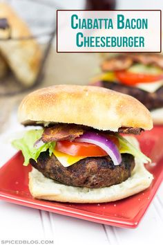 Ciabatta Bacon Cheeseburger: This classic cheeseburger is absolutely delicious and a great way to celebrate a warm summer day!