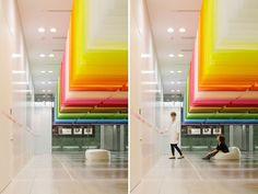 """Arquiteta faz """"100 Cores"""" flutuarem para Festival de Arte Japonês"""