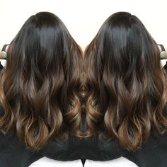 Dark brunette color melt by Mary Todd Lewis