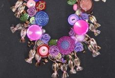 Vintage Look Blooms & Buttons Necklace..so pretty but it  may not be for newbie crafters..