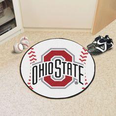 Fanmats Ohio State Buckeyes Baseball Mat, Team