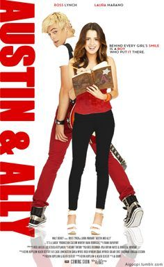 Austin and Ally 'movie poster' (fanmade) This is soo cool! Look at the quote, very creative lol! I love Austin & Ally! Disney Channel Shows, Disney Shows, Disney Channel Movies, Laura Marano, Austin Et Ally, Best Tv Shows, Favorite Tv Shows, Series Da Disney, Austin Moon