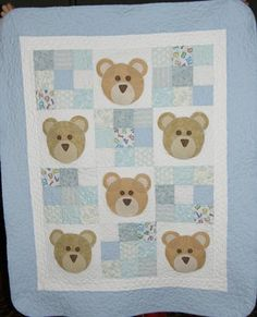 Baby quilt idea. Could use another little animal