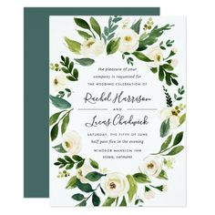 Alabaster Floral Frame Wedding Invitation Garden Wedding Invitations, Engagement Party Invitations, Elegant Wedding Invitations, Wedding Invitation Cards, Baby Shower Invitations, Wedding Cards, Wedding Events, Invite, Wedding Frames