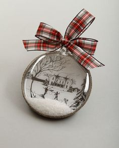 "Country Estate Ruby ""Winter Main House"" Christmas Ornament by Juliska at Neiman Marcus."