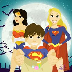 The Swan-Mills family went trick or treating this week end