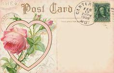 Lilac & Lavender ~ Vintage Postcard for Journaling