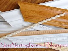 Detailed photo/instructions on cutting & using moldings.