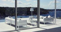 Kettal pool furniture all white