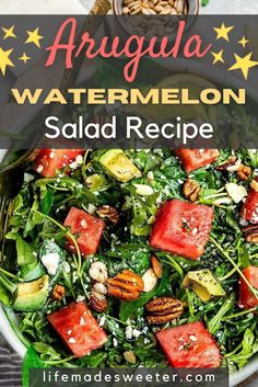 This arugula watermelon salad is the refreshing dish your body is craving. It's incredibly easy and flavorful too.