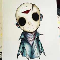 An older sketch of Jason Voorhees. #jason #jasonvoorhees #fridaythe13th #horror #horrormovies #scarymovies #scary #copic #copicmarkers #traditionalart #instagood #instagood #instaartist #instaart #art #creep #killers #uminga #chrisuminga #fanart...