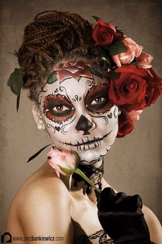 La Calavera Catrina - Nina Griffee, Body Painter & Face Painter based in Beijing & Shanghai China