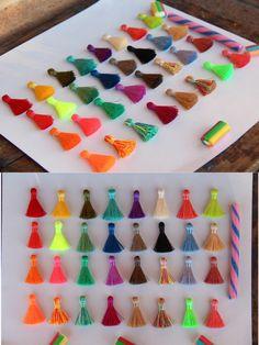"NEW Colors Mini Nylon SilkyTassels, 8+ Tiny Short Handmade Tassels, Spring Pantone, Boho Jewelry Making, Craft Supply, 1.25"", You Choose 8+ by WomanShopsWorld on Etsy https://www.etsy.com/listing/210395663/new-colors-mini-nylon-silkytassels-8"